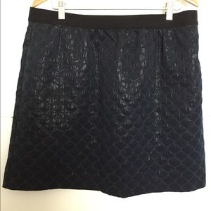 Ann Taylor LOFT Black Mini Skirt Plus Sz 14 Lined